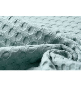 Oeko-Tex®  Rough Waffle Pique Fabric Old green