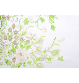 Mesh Embroidered Lilled Lime