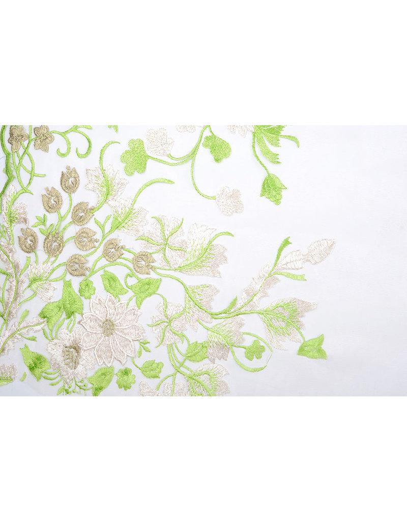 Netz bestickt Lilled Limette