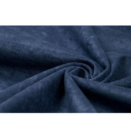 Velor Velvet Fabric Ravi Police Blue