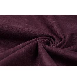 Velor Velvet Fabric Ravi Aubergine