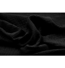 Oeko-Tex®  Double Gauze Fabric Black