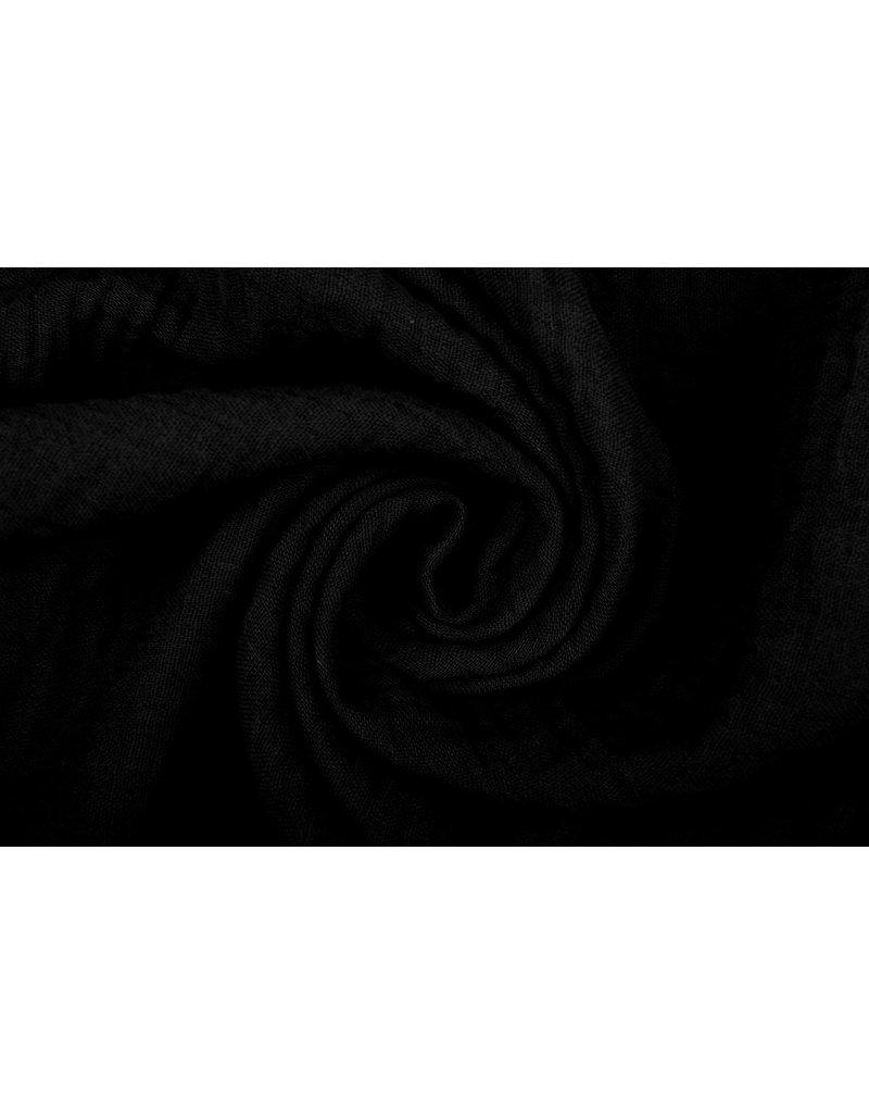 Oeko-Tex®  Baumwoll Musselin Stoff  Schwarz