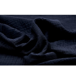 Oeko-Tex®  Double Gauze Fabric Navy