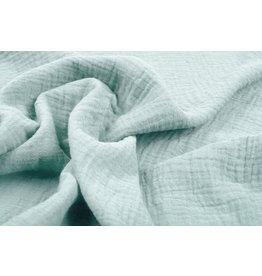 Oeko-Tex®  Baumwoll Musselin Stoff Helles altes Grün