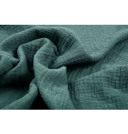 Oeko-Tex®  Double Gauze Fabric Dark Old Green