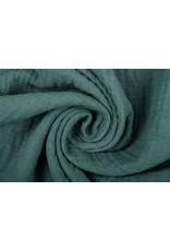 Oeko-Tex®  Baumwoll Musselin Stoff Dunkles altes Grün