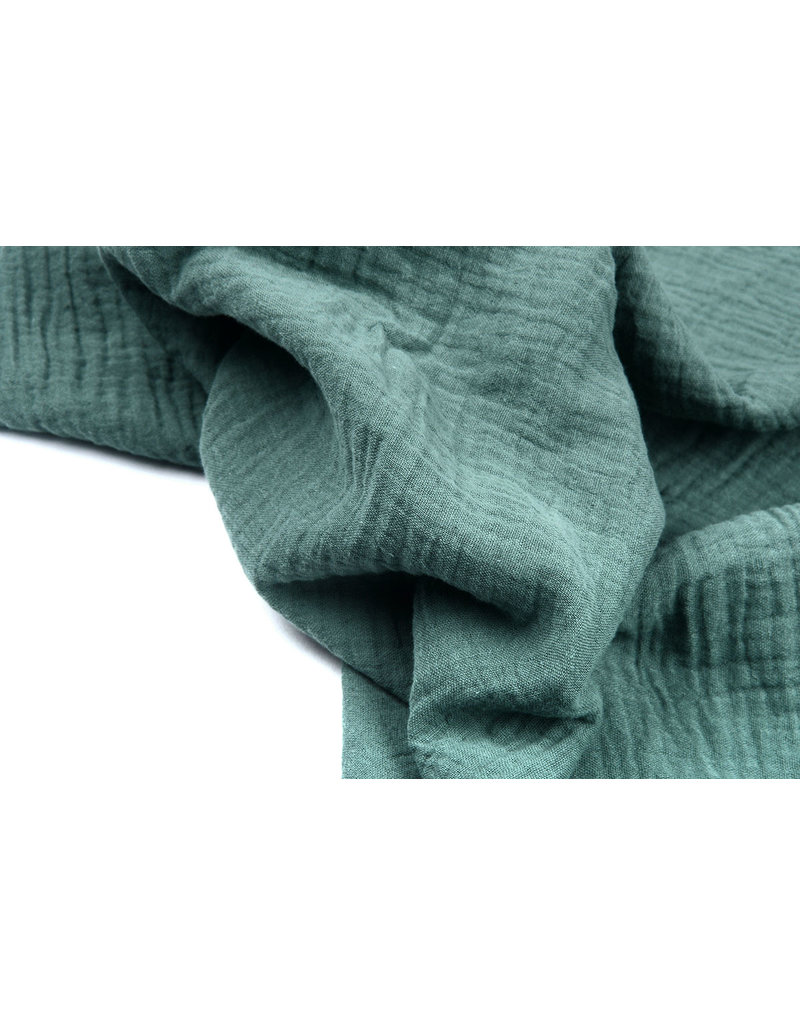 Oeko-Tex®  Hydrofiel stof Donker Oud Groen