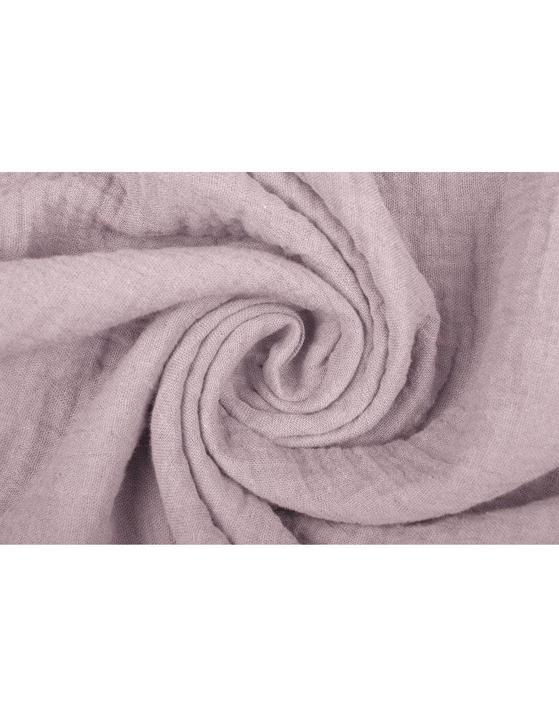 Oeko-Tex®  Baumwoll Musselin Stoff Hell altes Rosa