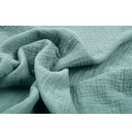 Oeko-Tex®  Double Gauze Fabric Old Green