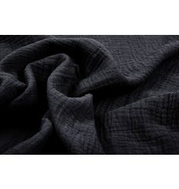 Oeko-Tex®  Double Gauze Fabric Dark grey