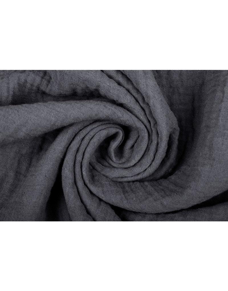Oeko-Tex®  Baumwoll Musselin Stoff Grau