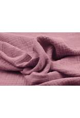 Oeko-Tex®  Hydrofiel stof Donker Oud Roze