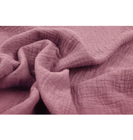 Oeko-Tex®  Double Gauze Fabric Dark Old pink