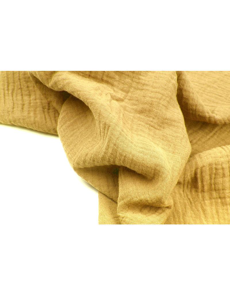 Oeko-Tex®  Baumwoll Musselin Stoff Hellockergelb