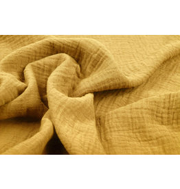 Oeko-Tex®  Double Gauze Fabric Light Ocher Yellow