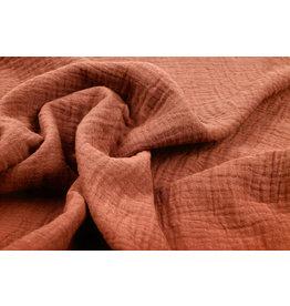 Oeko-Tex®  Baumwoll Musselin Stoff Orange Brique