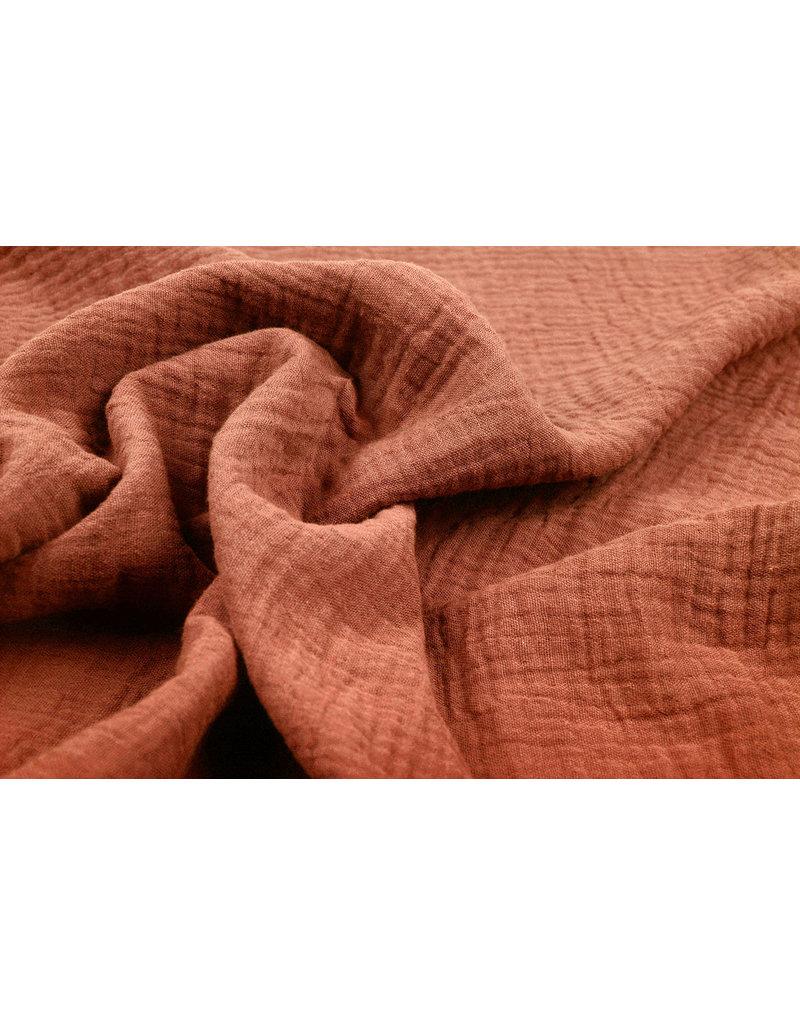 Oeko-Tex®  Hydrofiel stof Oranje Brique