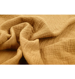 Oeko-Tex®  Double Gauze Fabric Ocher Yellow