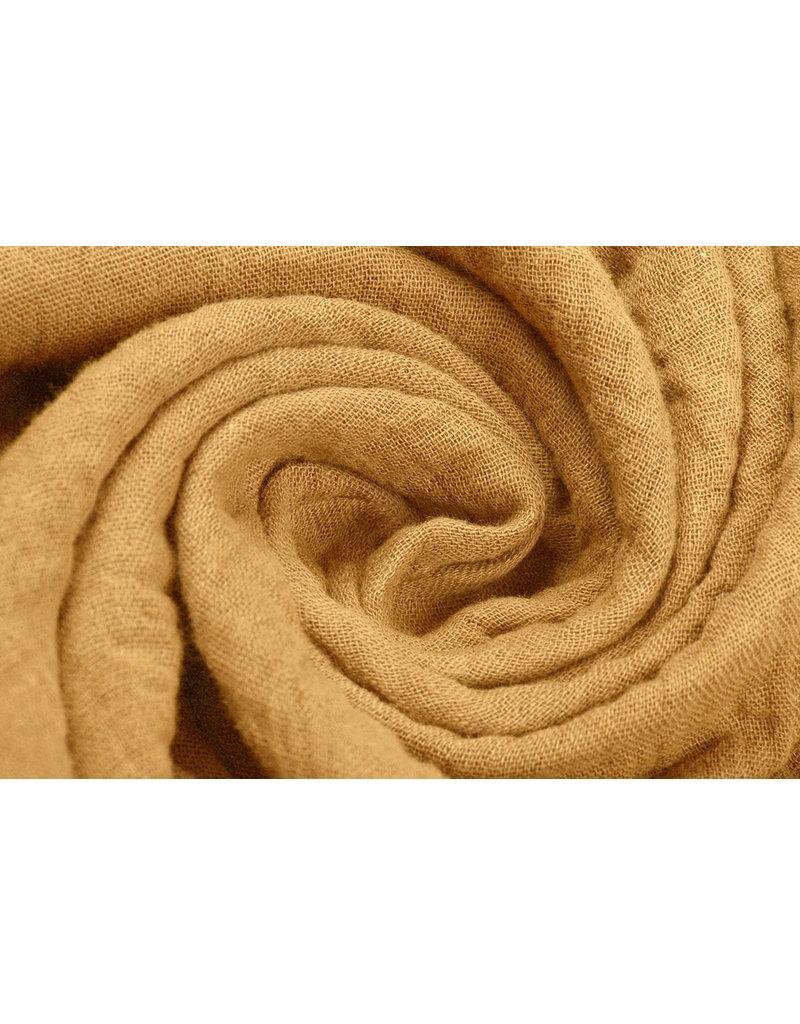 Oeko-Tex®  Baumwoll Musselin Stoff Ockergelb