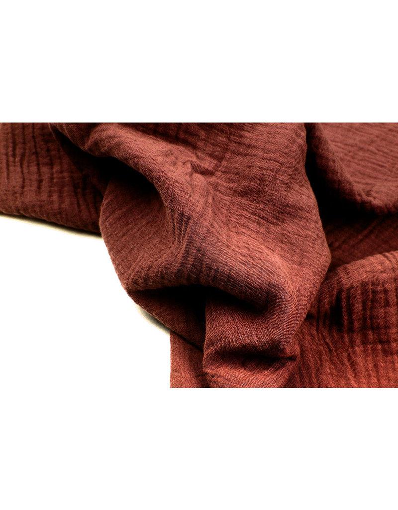 Oeko-Tex®  Hydrofiel stof Roest Brique