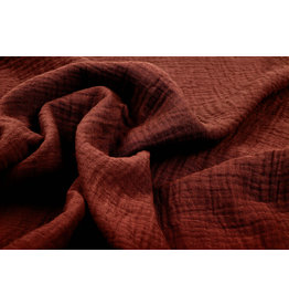 Oeko-Tex®  Double Gauze Fabric Rust Brique