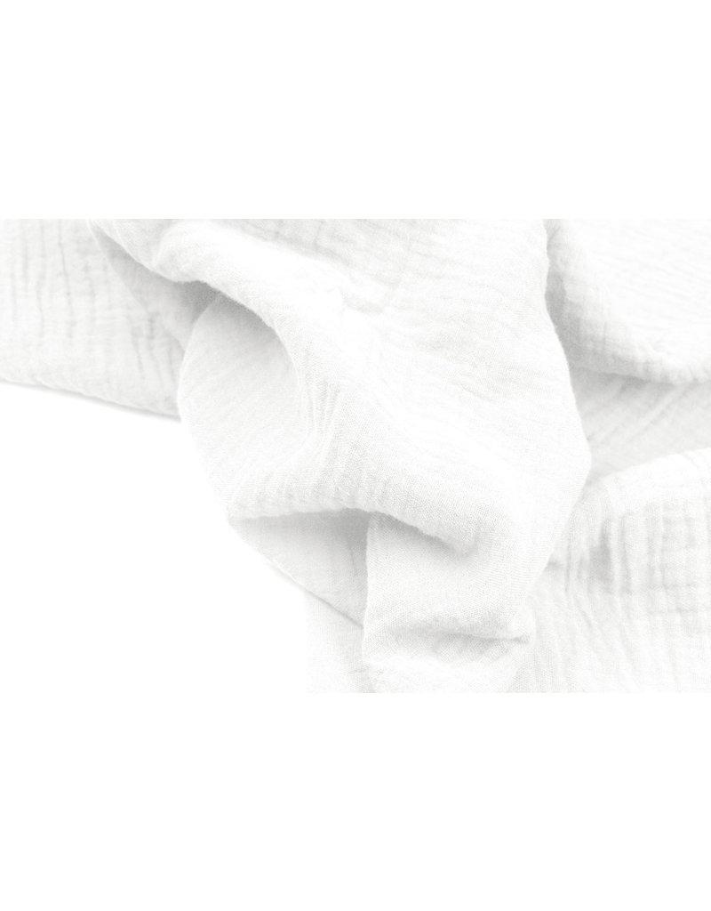 Oeko-Tex®  Baumwoll Musselin Stoff Weiß