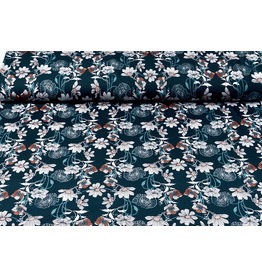 Lycra jersey Crepe Simmer Flowers Flores