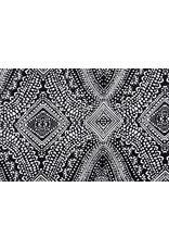 Lycra tricot Simmer Punkti Zwart Wit