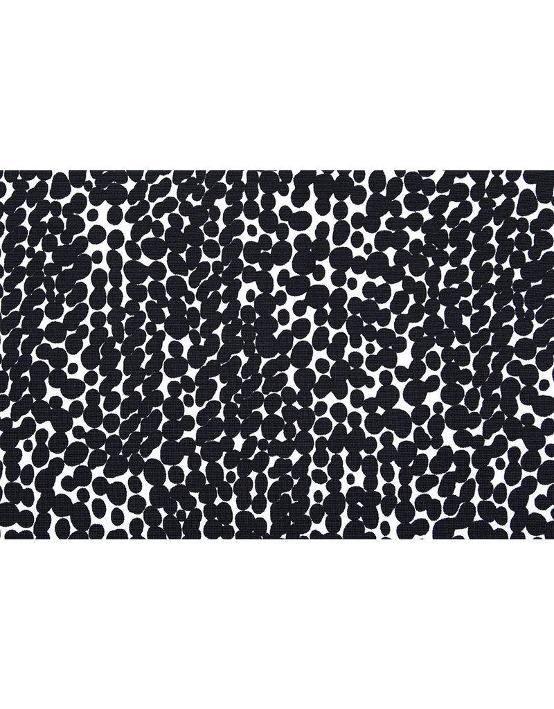 Lycra tricot Simmer Khomba Zwart Wit