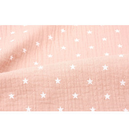 Oeko-Tex®  Double Gauze Fabric stars Peach