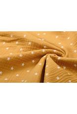 Oeko-Tex®  Hydrofiel stof sterren Oker Geel