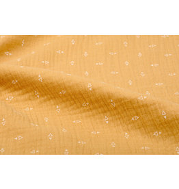 Oeko-Tex®  Double Gauze Fabric Triangles Ocher Yellow