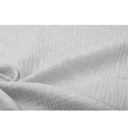Oeko-Tex®  Double Gauze Fabric Triangles Light grey
