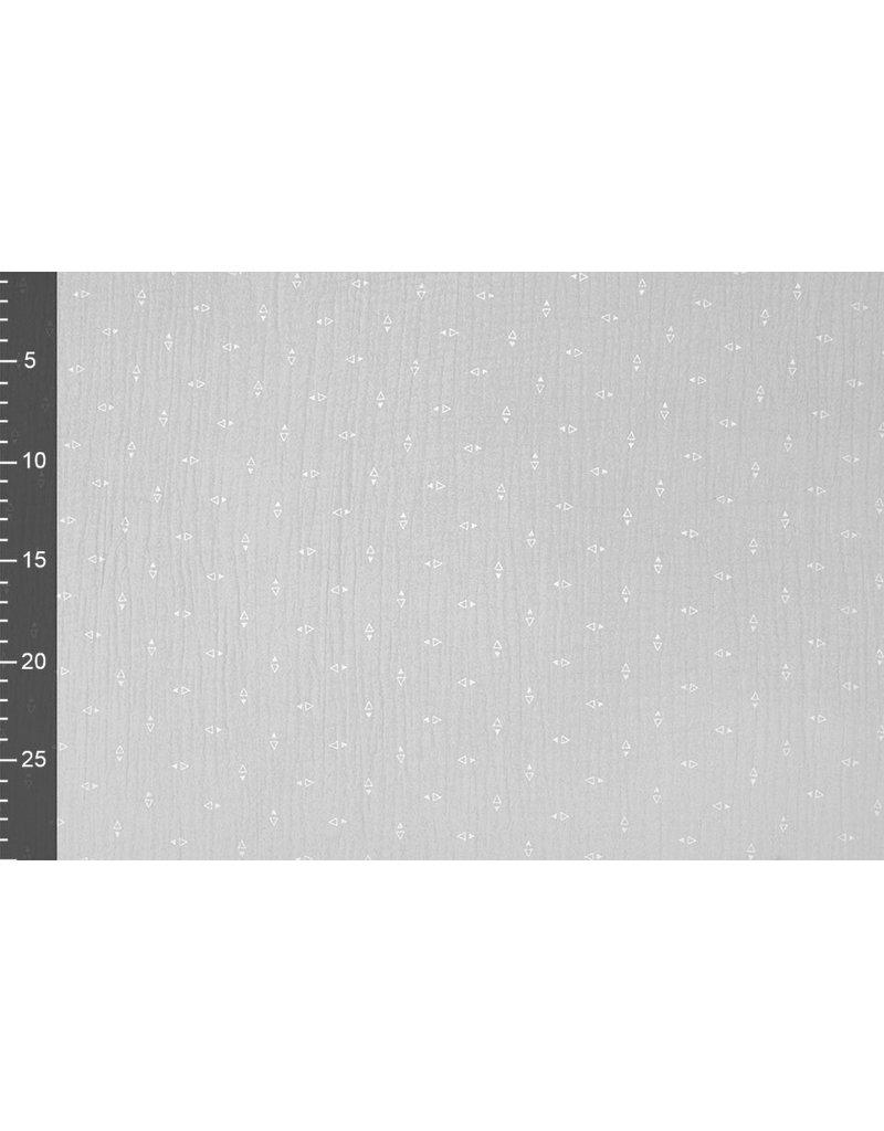 Oeko-Tex®  Hydrofiel stof Driehoekjes Licht Grijs