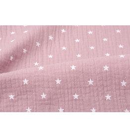 Oeko-Tex®  Double Gauze Fabric stars Old pink