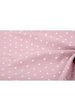 Oeko-Tex®  Hydrofiel stof sterren Oud Roze