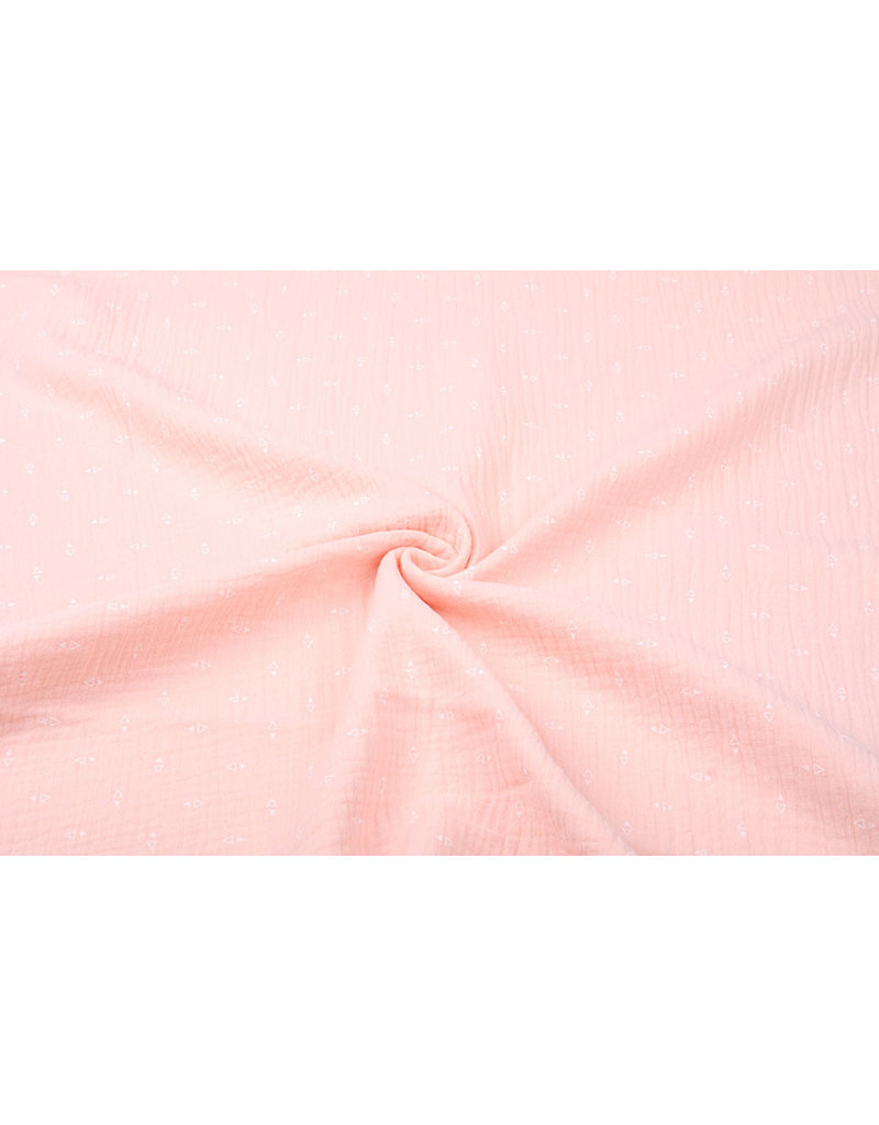 Oeko-Tex®  Hydrofiel stof Driehoekjes Peach