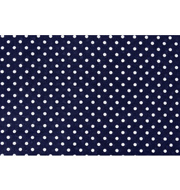 100% Cotton Dots Dots Navy White