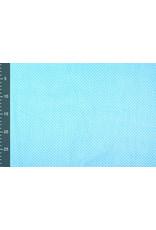 100% Baumwolle Punkte Mini Aqua Weiß
