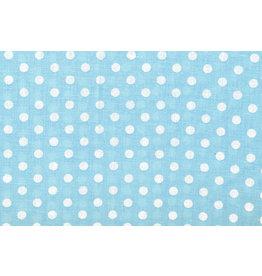 100% Cotton Dots Dotto Greyblue White