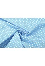 100% Katoen Stippen Dotto Grijsblauw Wit
