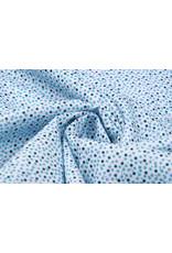 100% Baumwolle Punkte Pokodot Blau