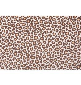 100% Baumwolle Pantherdruck Braun