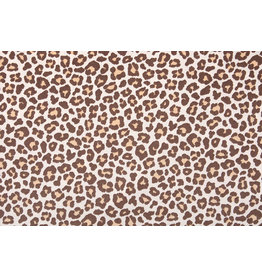 100% Cotton Panther print Brown
