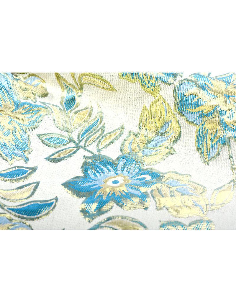 Brokat  Blumen Izimbali Aqua