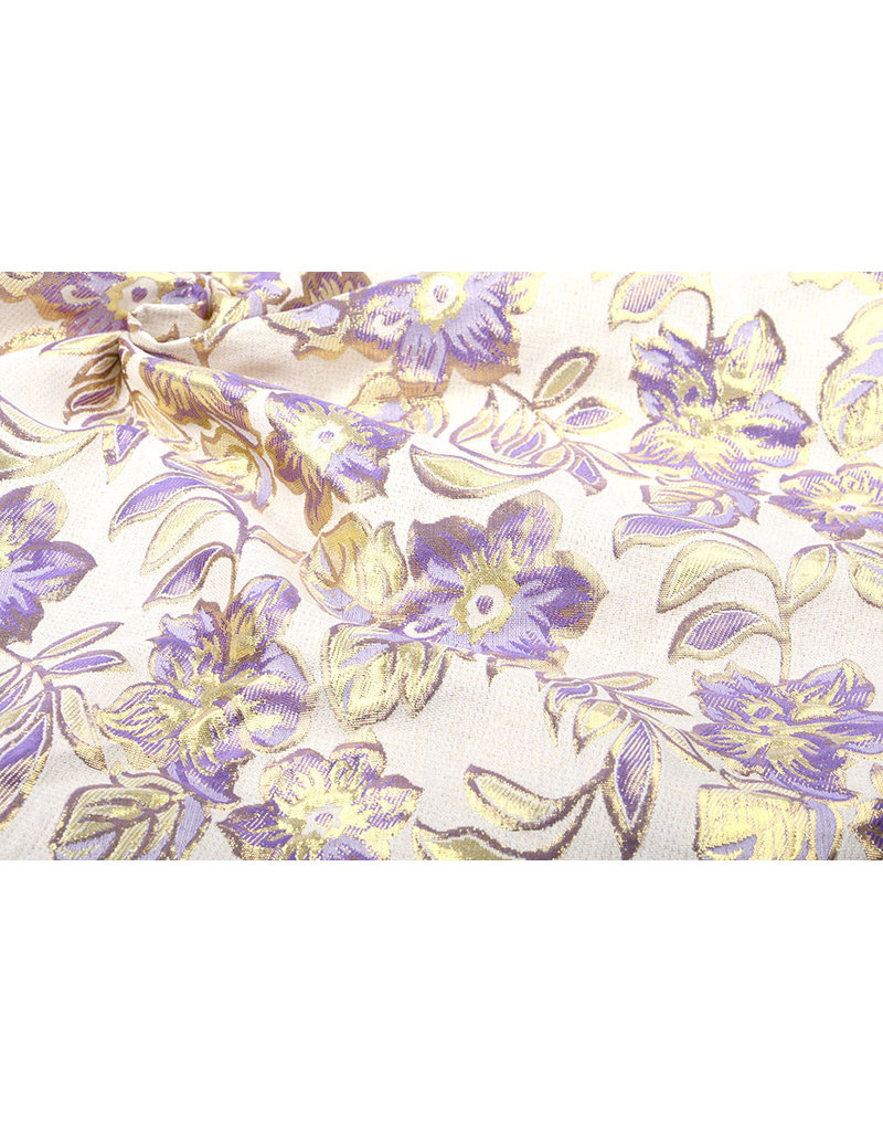 Brokat  Blumen Izimbali Flieder