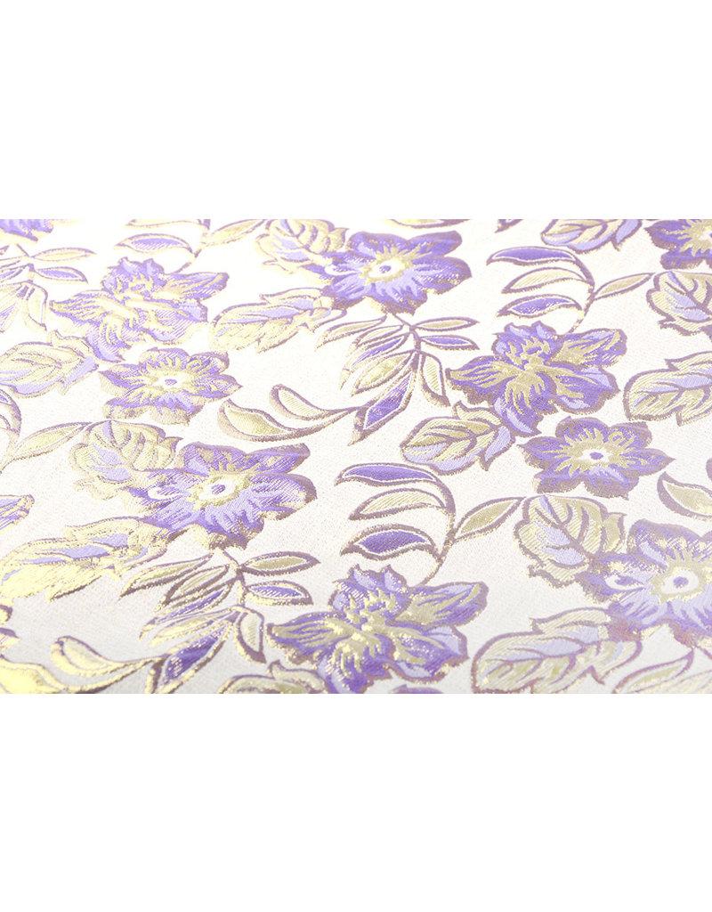 Brokat  Blumen Izimbali Lila