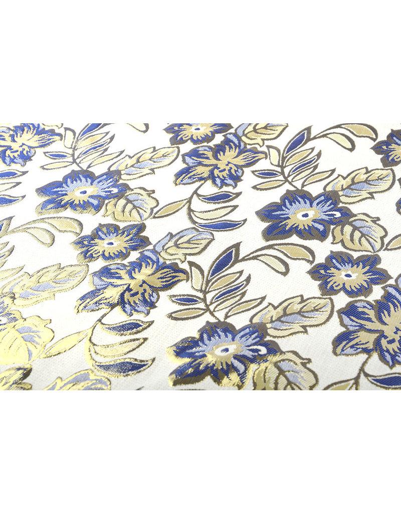 Brokat  Blumen Izimbali Marine