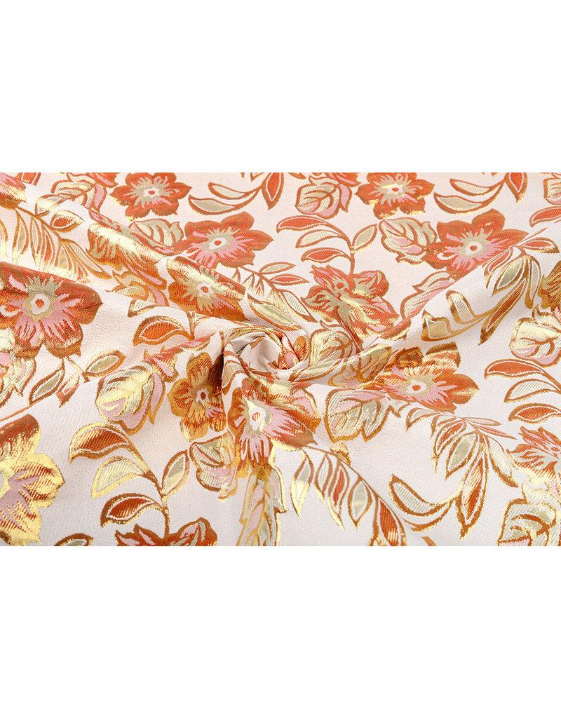 Brokat  Blumen Izimbali Orange